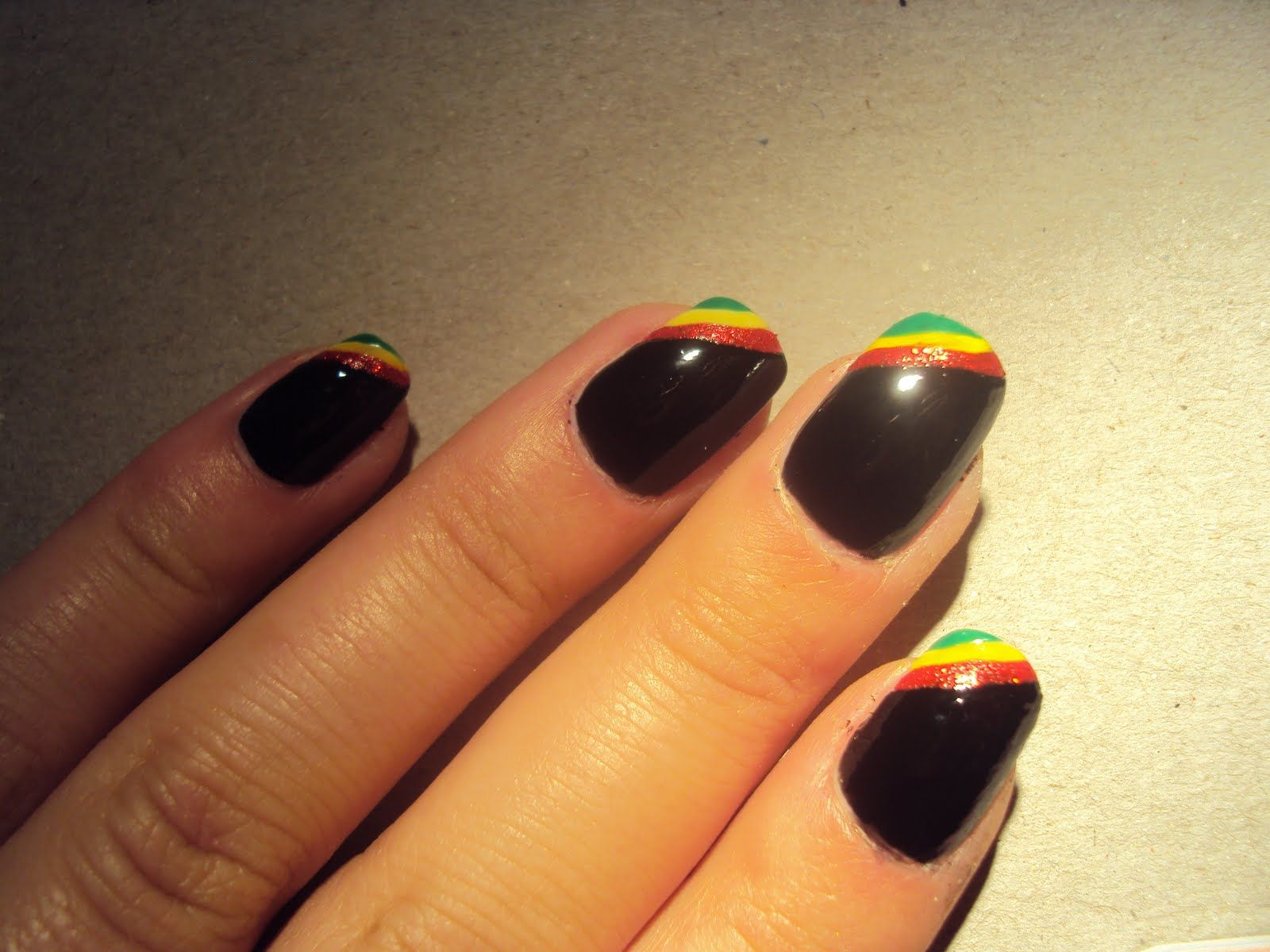 rasta nail | Rasta designed nails | Cute nails? :) | Pinterest ...