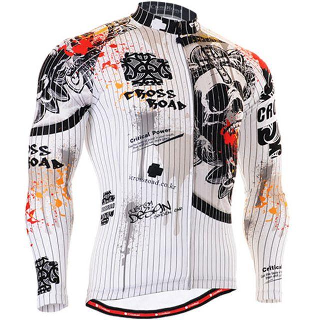 Larga para hombre camisetas de ciclismo en bicicleta de montaña ropa ...