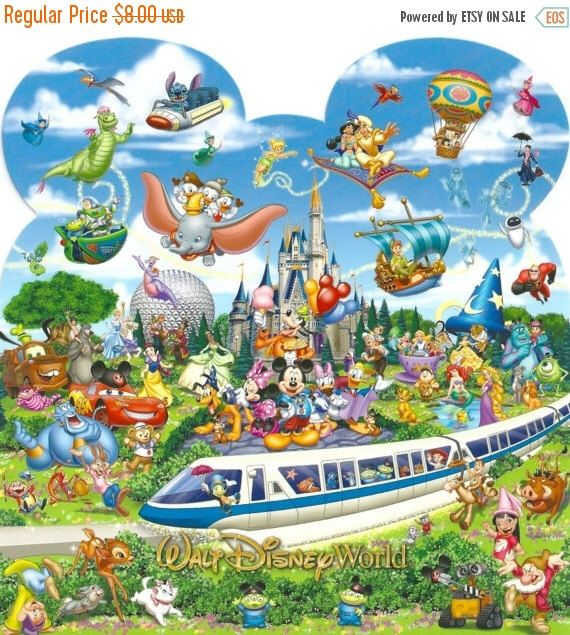 """ON SALE Counted Cross Stitch - Monorail & characters- 22.79"""" x 24.00"""" - L791 by lovemystitch on Etsy https://www.etsy.com/listing/215406247/on-sale-counted-cross-stitch-monorail"""