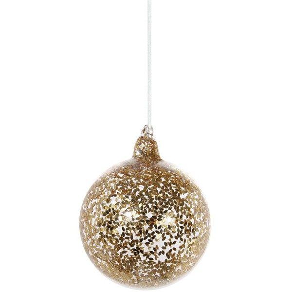 Shishi As Leaf large glass Christmas ornament \u2013 Gold (13 CAD
