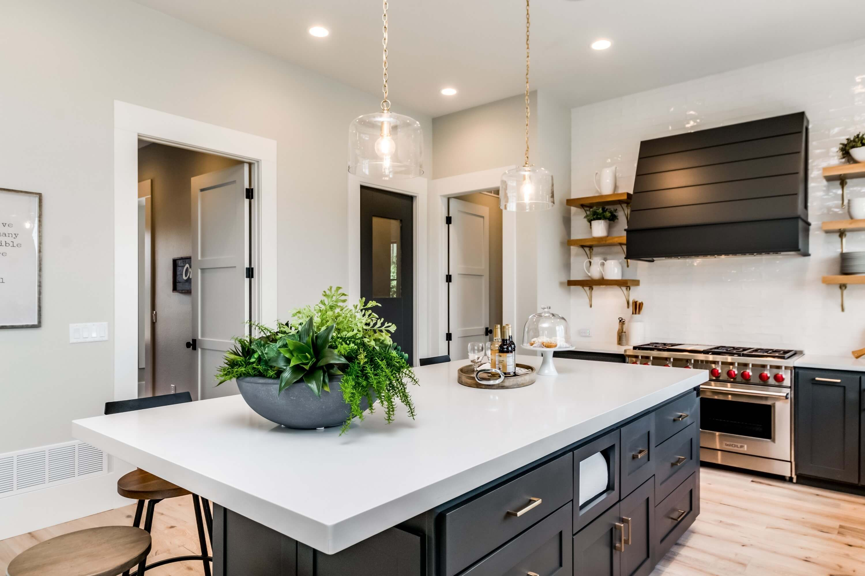 Here Is A Sneak Preview Of Our Home For The 2017 Parade Of Homes Colorado Springs Urban Farmhouse Black Kitchen Countertops Urban Farmhouse Designs