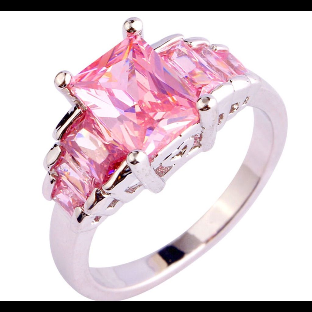 Wholesale Ladies Emerald Cut Pink Topaz 925 Silver | Pink topaz and ...