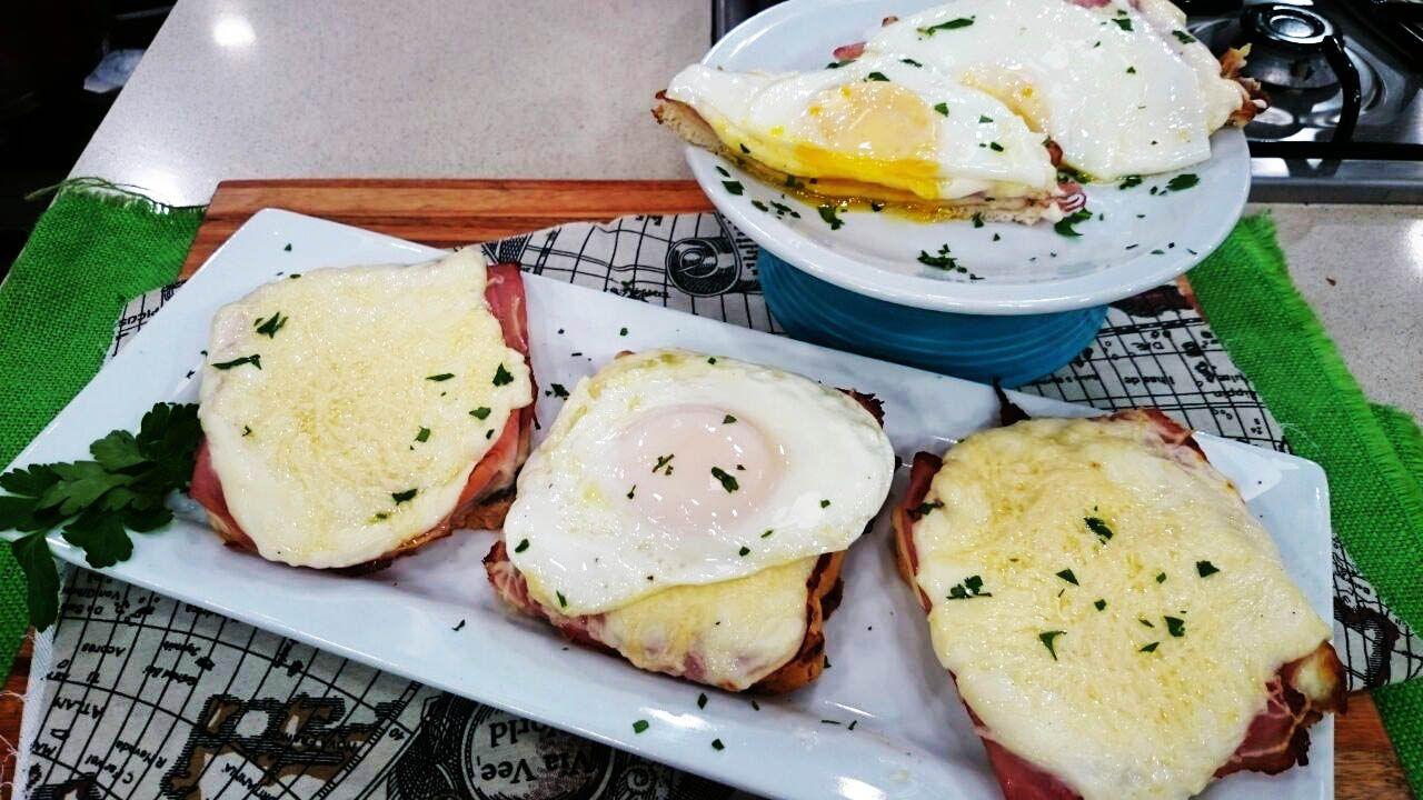 Encontrá los ingredientes y procedimientos de la receta Croque madame y monsieur al cuadrado en http://www.cocinerosargentinos.com/recetas-faciles/2550/Croqu...