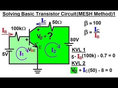 electrical engineering solving basic transistor circuit. Black Bedroom Furniture Sets. Home Design Ideas
