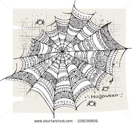 Halloween spider web background by balabolka, via ShutterStock