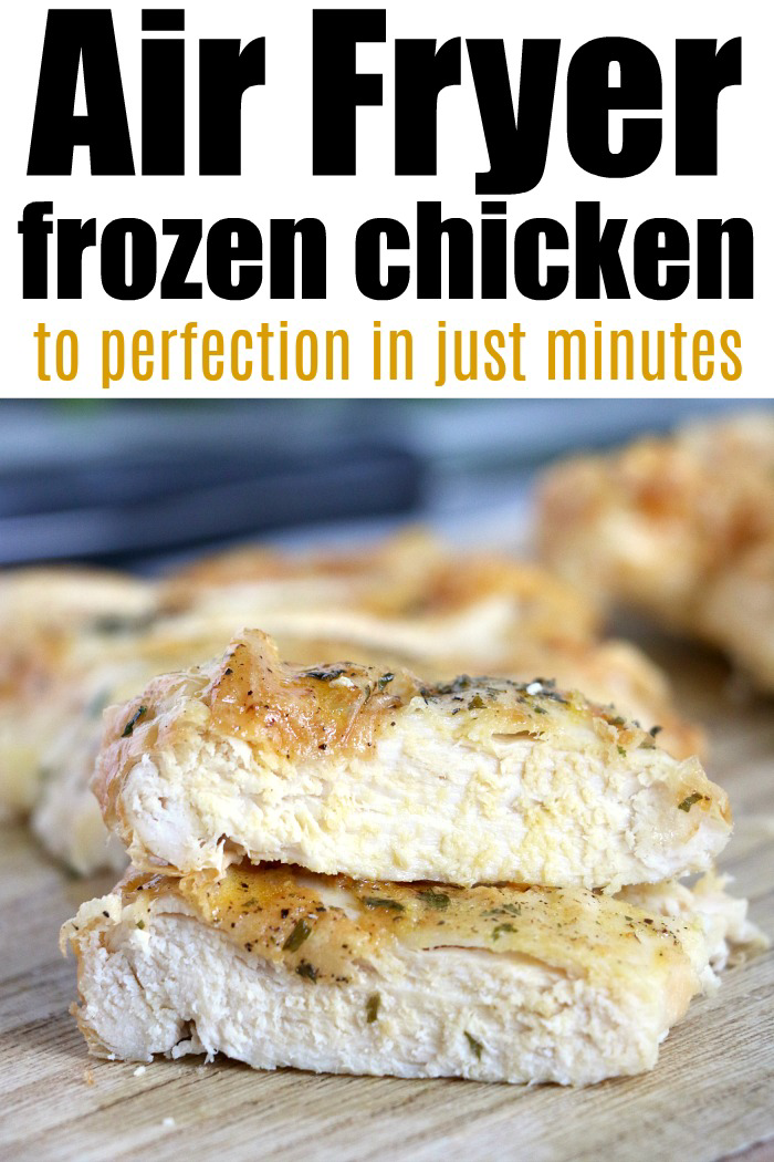 Frozen chicken breast in air fryer is so easy to make