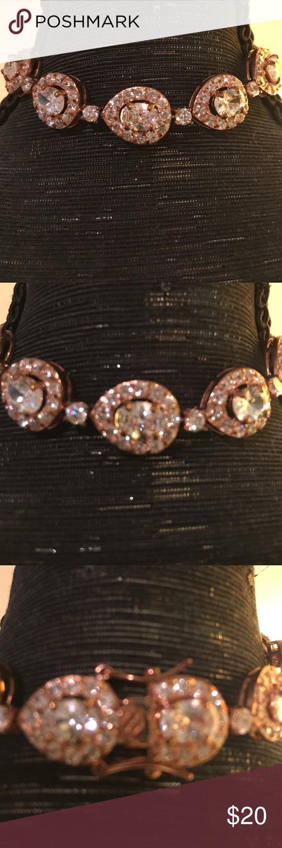New Rose gold rhinestone bracelet NWT Jewelry bracelets Rose
