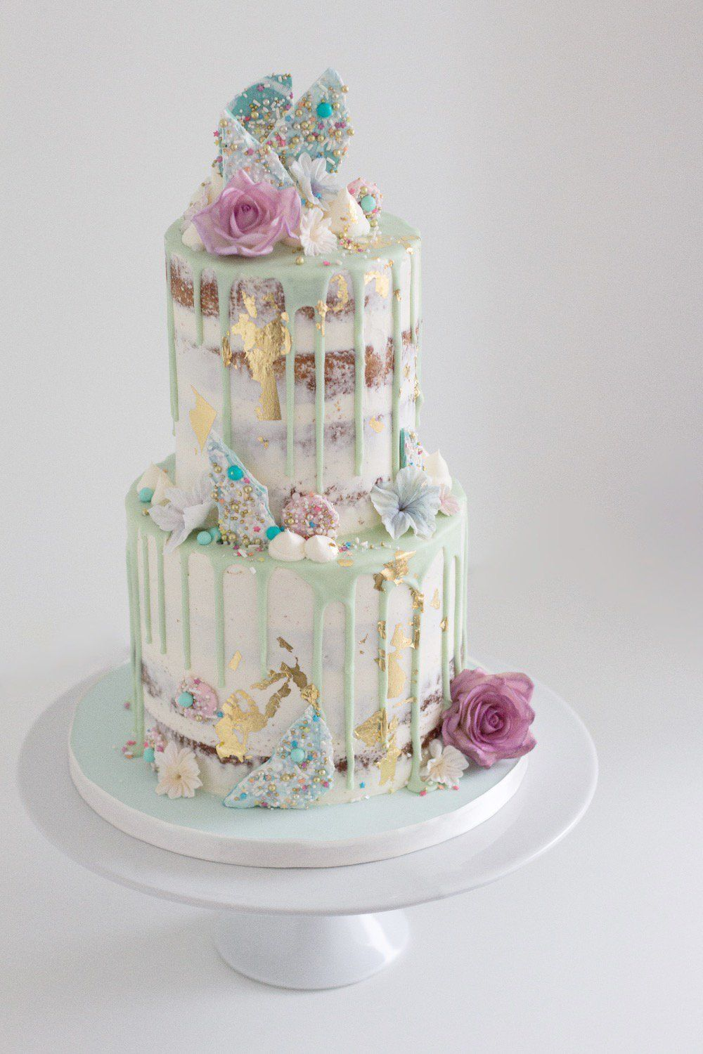 Pastel Aesthetic Birthday Cake