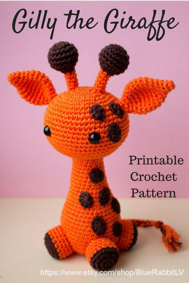 Amigurumi Gilly the Giraffe Crochet Pattern Printable PDF #ad ...