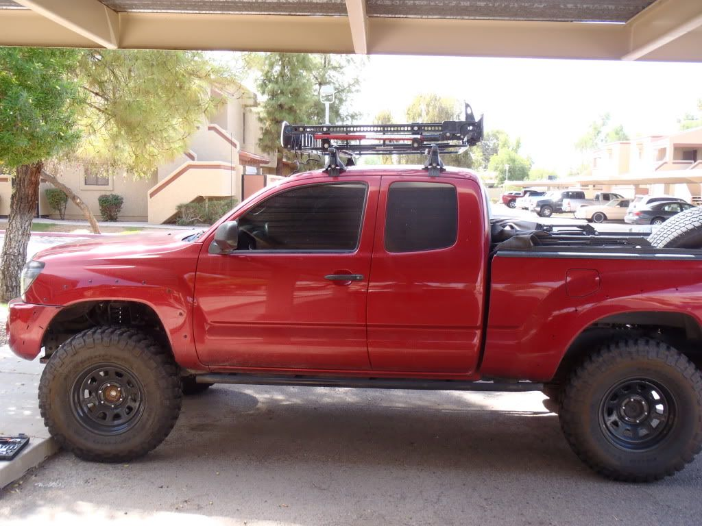 FS Roof Rack with Full Spare Mount, Hi Lift, and Lights