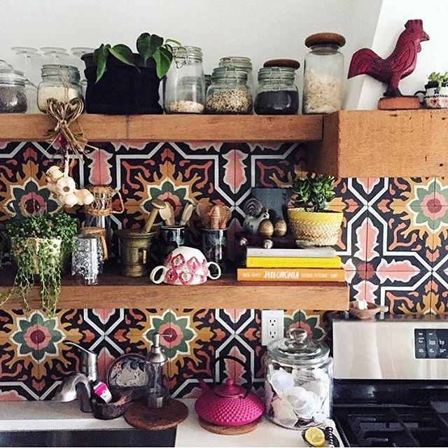 Retro Fliesen in der Küche Küche individuelle einrichten - küche fliesen ideen
