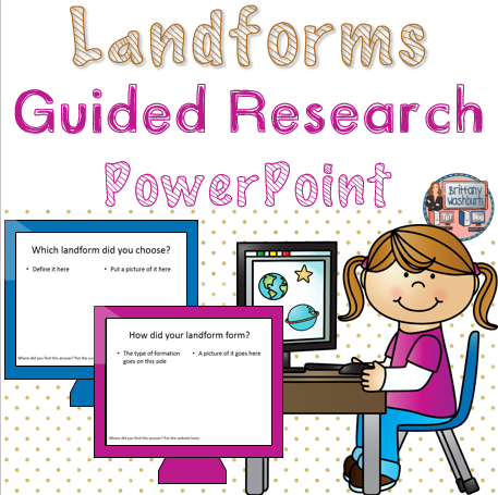 Landforms Guided Research Powerpoint Template  Rumah Teknologi