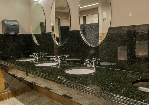 Merveilleux Commercial Bathroom Countertops. Green Ubatuba Commercial Bathroom  Countertop Countertops