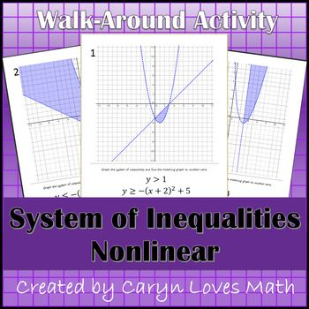 Graphing Systems Of Inequalites Quadraticlinear Walk Around