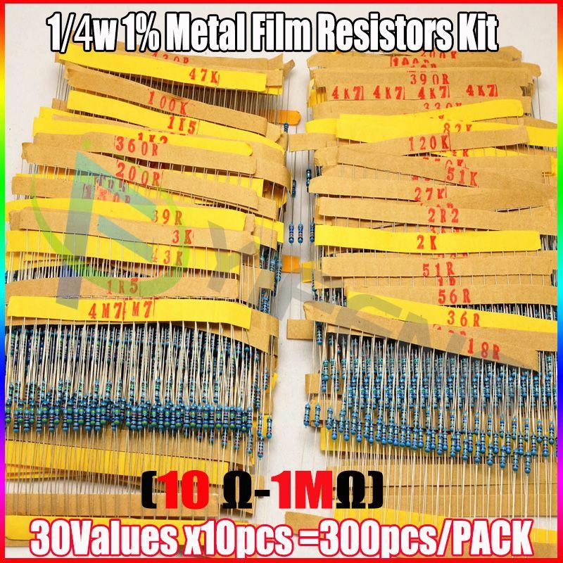 Pack resistances 1//4 Watt 30 valeurs 300 ou 600pcs Compatible Arduino