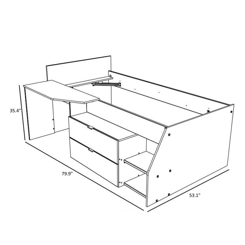 Best Milky Twin Low Loft Bed Low Loft Beds Loft Bed Low Loft 400 x 300
