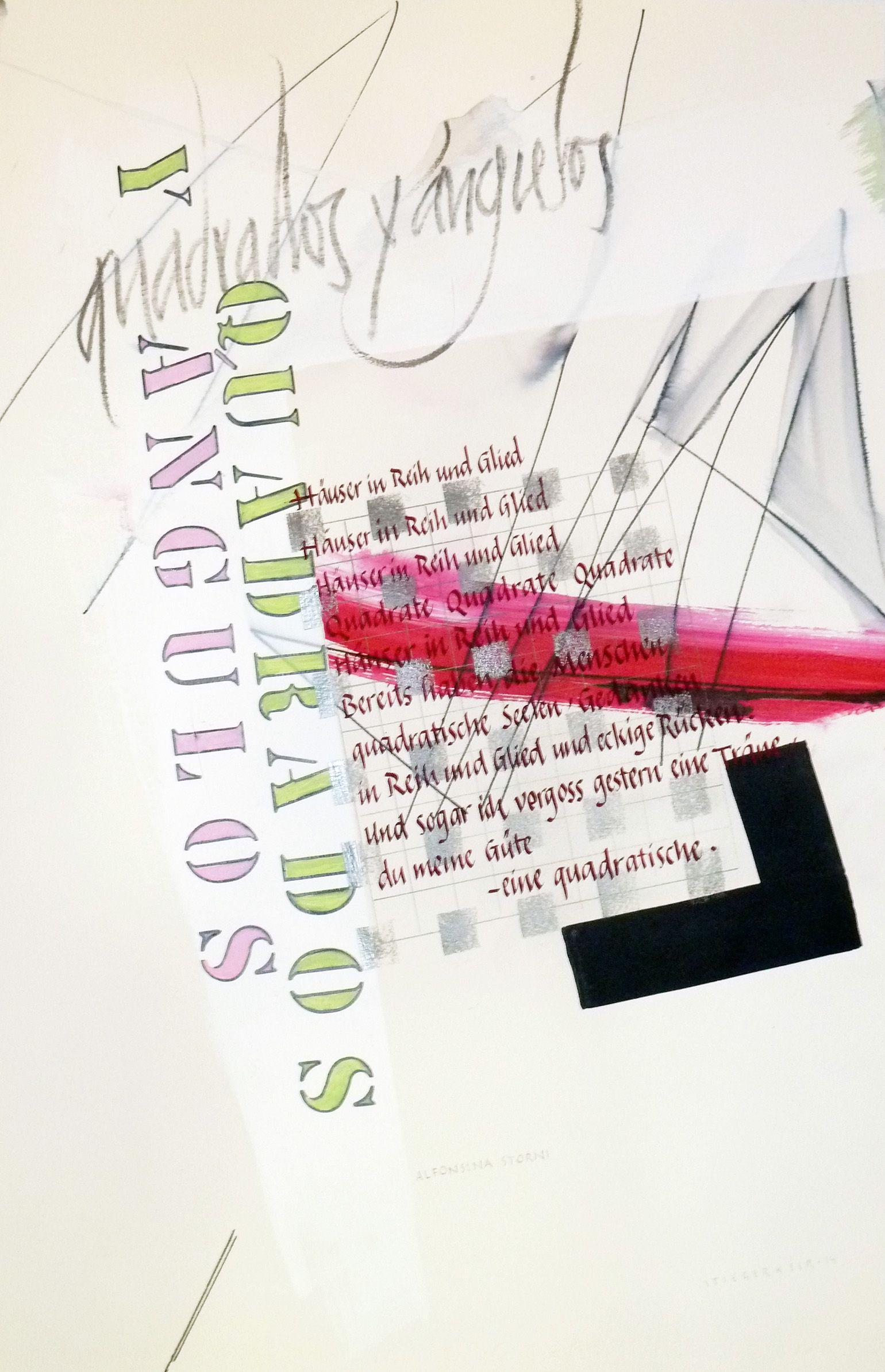 Poem From Alfonsina Storni Roland Stieger Wwwschrift Art