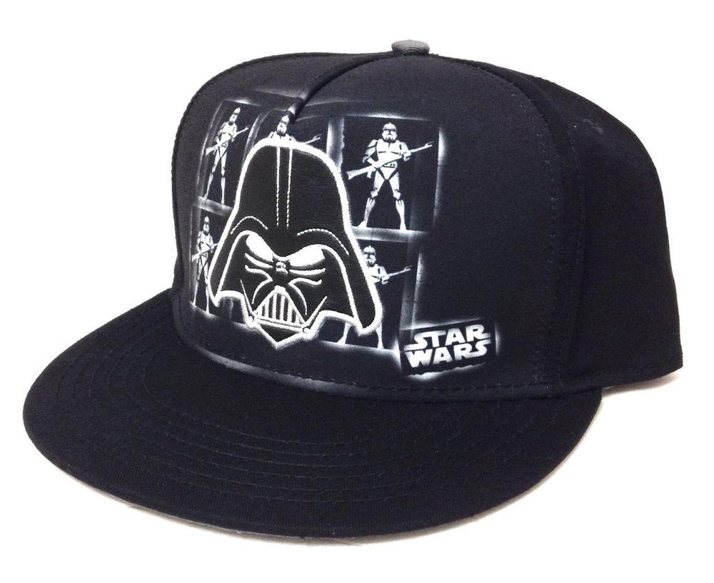 037fc4c89709e DARTH VADER SNAPBACK HAT Black Gray White Star Wars Storm Trooper  Men Women Teen  StarWars  BaseballCap