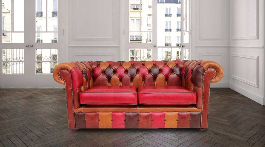 Chesterfield Patchwork Old English 2 Seater Settee Leather Sofa Offer, Chesterfield  Cream Leather Sofa Offer, Chesterfield 3 Seater Settee Cream Leather ...