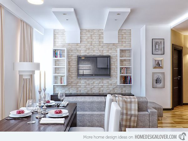 Brick Wall Accents In 15 Living Room Designs