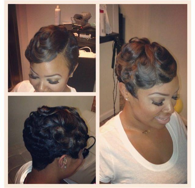 Finger Wave Short Black Hair Google Search Pin Curlssoft