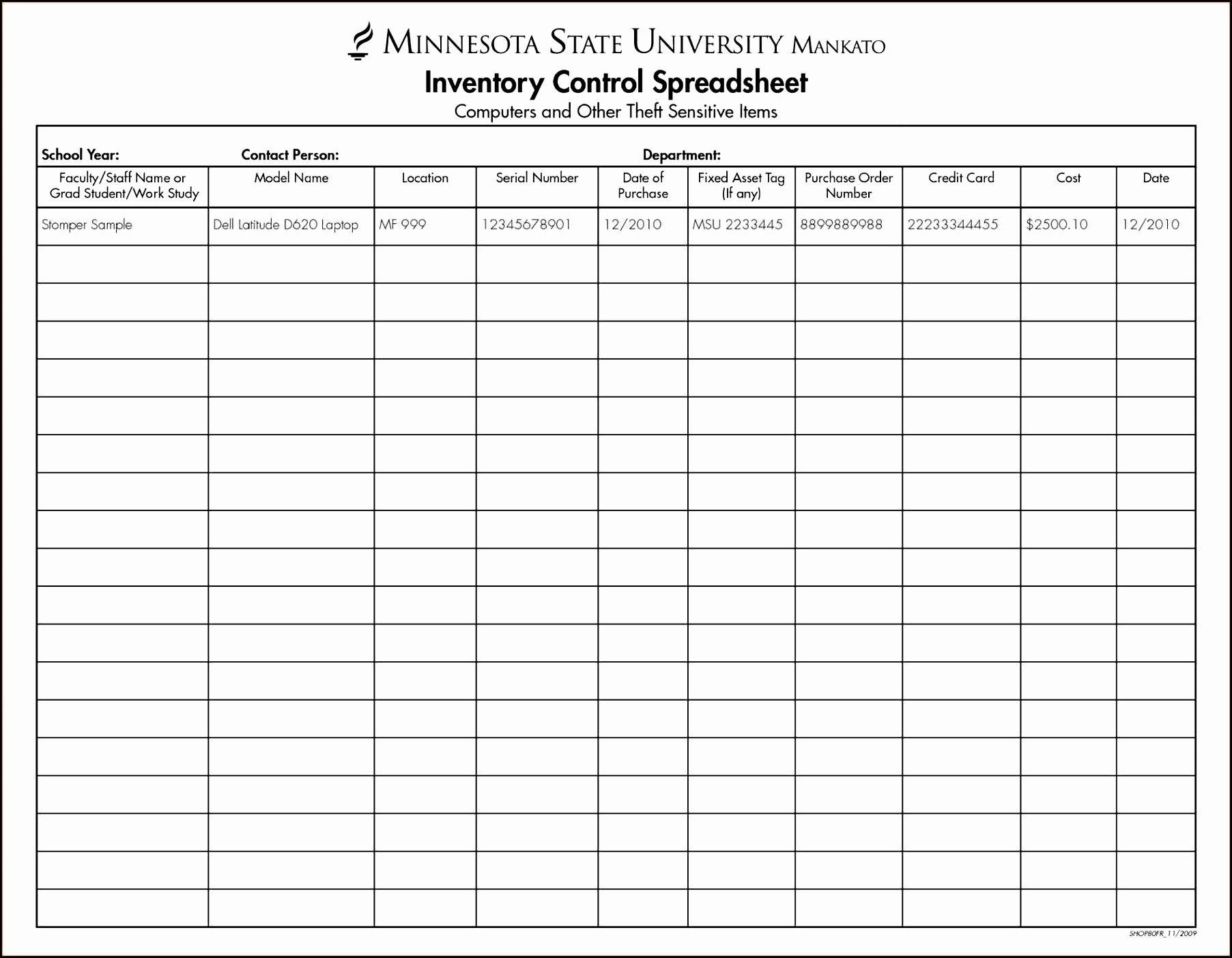 New Inventory Excel Sheet xlstemplate xlssample xls