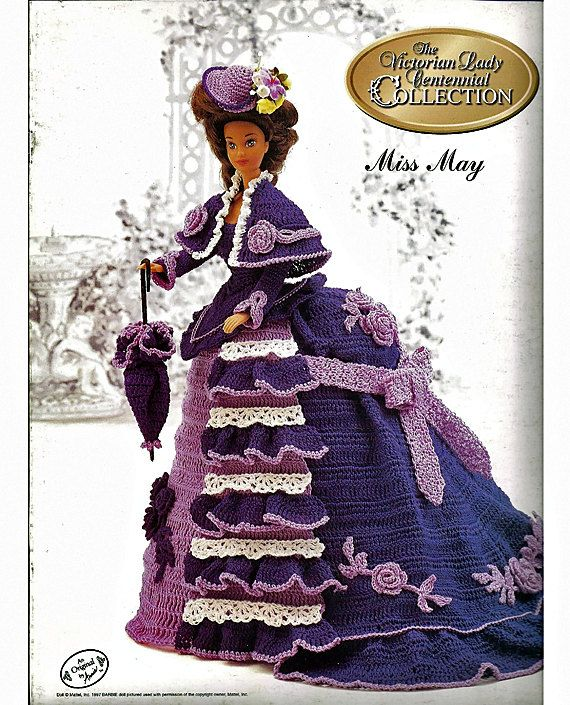 Miss May The Victorian Lady Centenial Collection  Fashion Doll  Crochet Pattern  Annies Attic. $6.00, via Etsy.