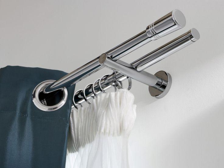 r sultats de recherche d 39 images pour pole et rail pour rideau habillage de fenetre. Black Bedroom Furniture Sets. Home Design Ideas