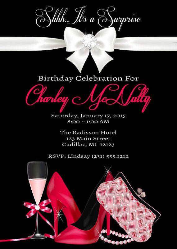 Surprise Birthday Invitation u2022 Adult Birthday Invitation u2022 No Age - birthday invitation for adults