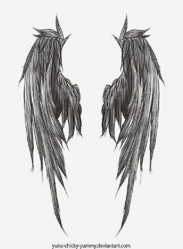 Favorite Dark Wings Tattoo Style Of Angel Wing Tattoos Great