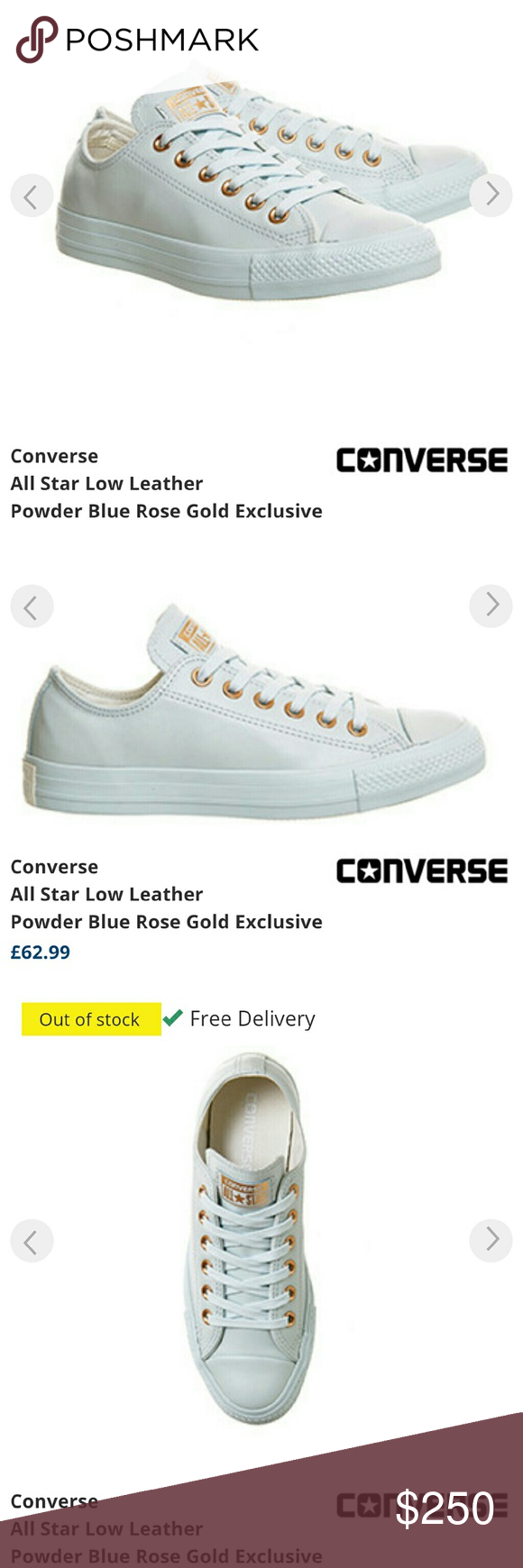 679e4ff35e5914 Converse Holiday Nudes Powder blue Rose Gold I got these from the exclusive  website selling this