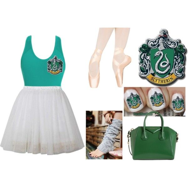 slytherin ballet by diamond-saphire on Polyvore featuring beauty, Givenchy and Free People