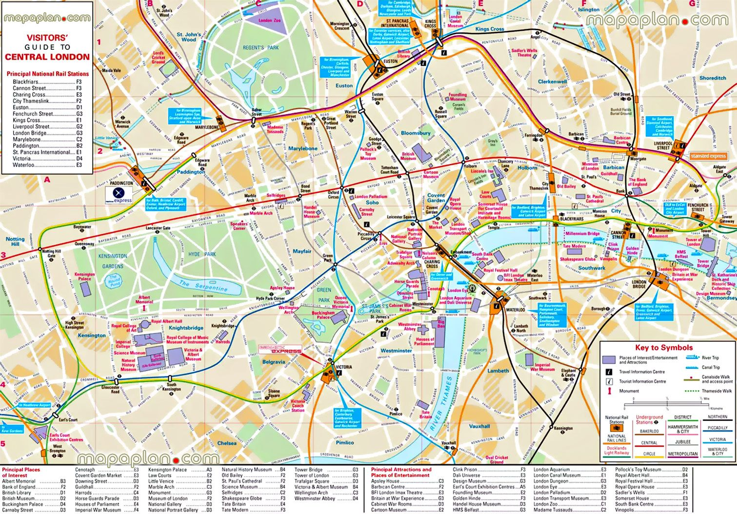 download travel map of london major tourist attractions maps