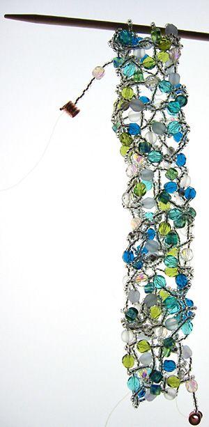PATTERN ONLY for #1-4 EARRINGS beaded knitting knit!