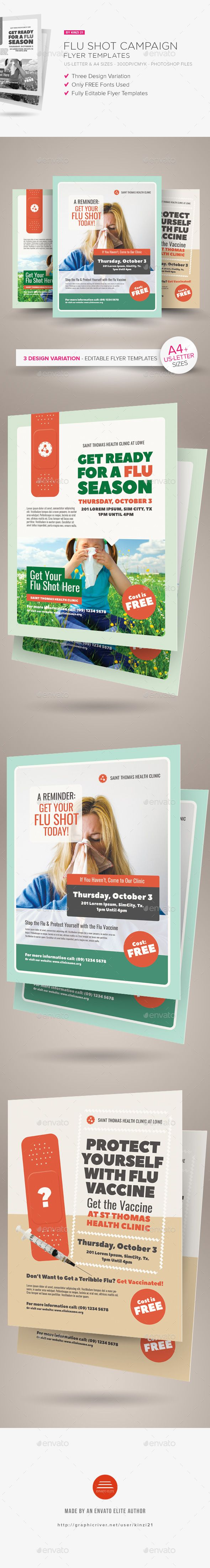 Flu Shot Campaign Flyer Templates | Flu Campaign | Pinterest ...