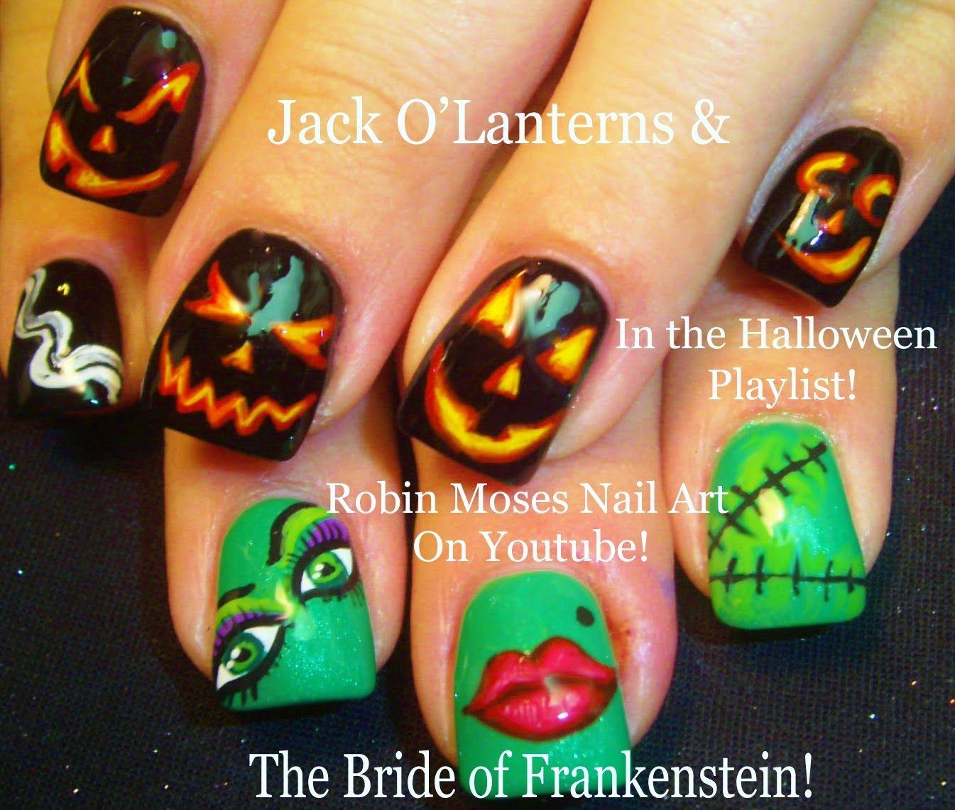 Hotel Transylvania 2! Halloween Nail Art Design Tutorial!  Nails & Toes  Designs To Recreate Diy  Pinterest  Robin Moses, Nail Nail And Robins
