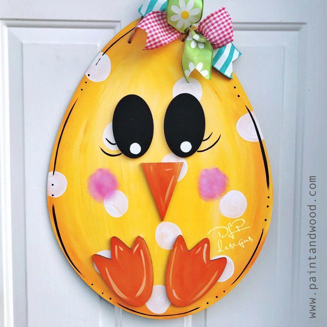 Photo of Easter Egg Chick Door Hanger – Unfinished