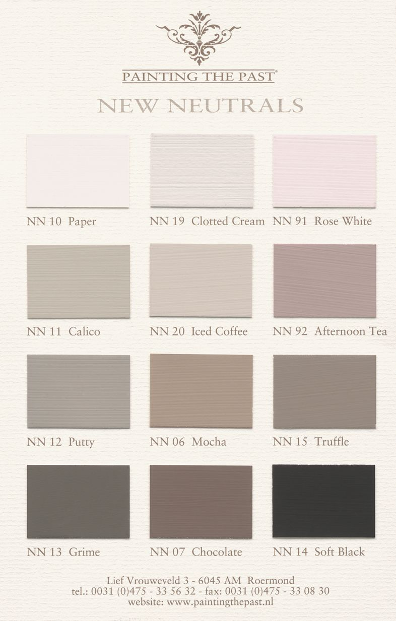 new neutrals by painting the past colourcard painting the past pinterest interiors shabby. Black Bedroom Furniture Sets. Home Design Ideas