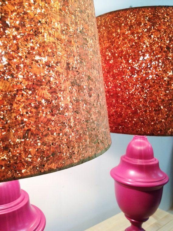 purple cork lamps.