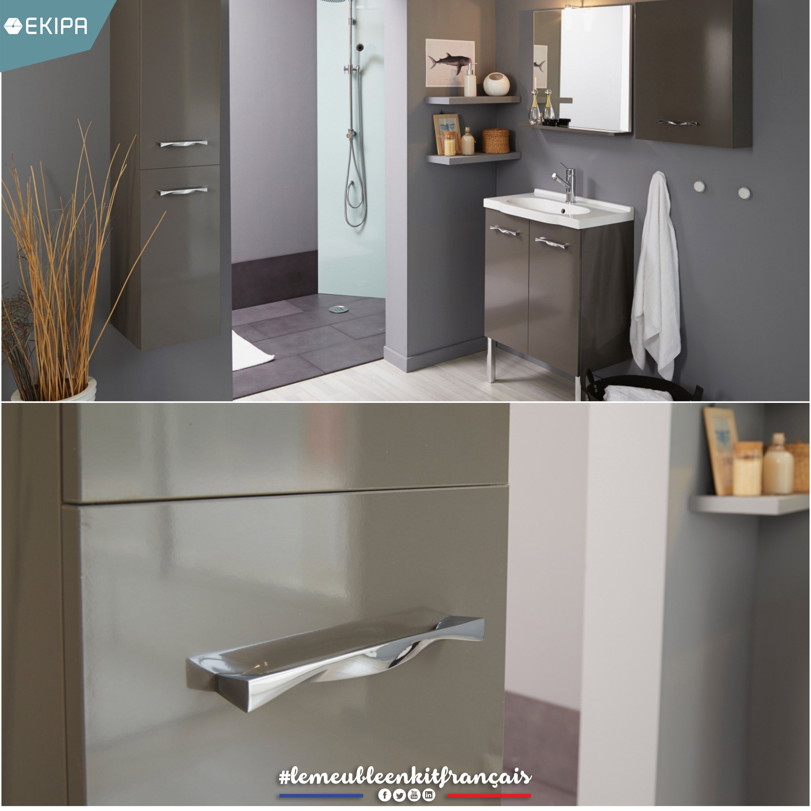 Colonne Salle De Bain Blanc Laque Cdiscount ~ dana by ekipa dana is a contemporary collection of bathroom