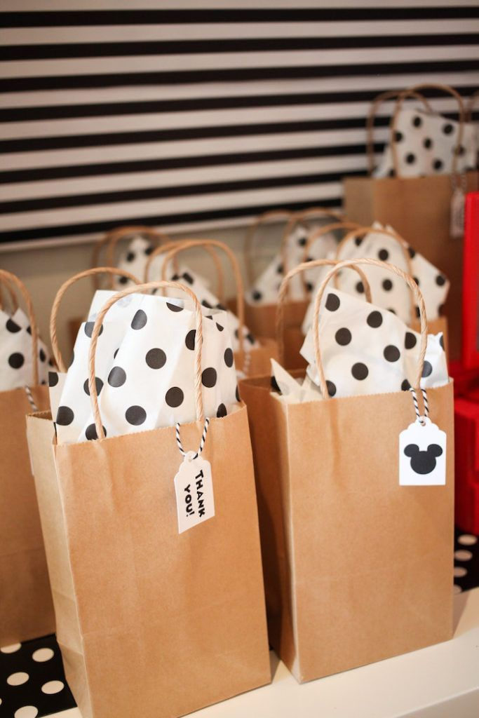 Classic Mickey Mouse Birthday Party #mickeymousebirthdaypartyideas1st Mickey Mouse favor bags from a Classic Mickey Mouse Birthday Party on Kara's Party Ideas | KarasPartyIdeas.com (32) #mickeymousebirthdaypartyideas1st