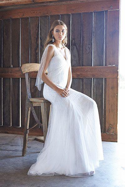 Luxe outdoor wedding dresses.