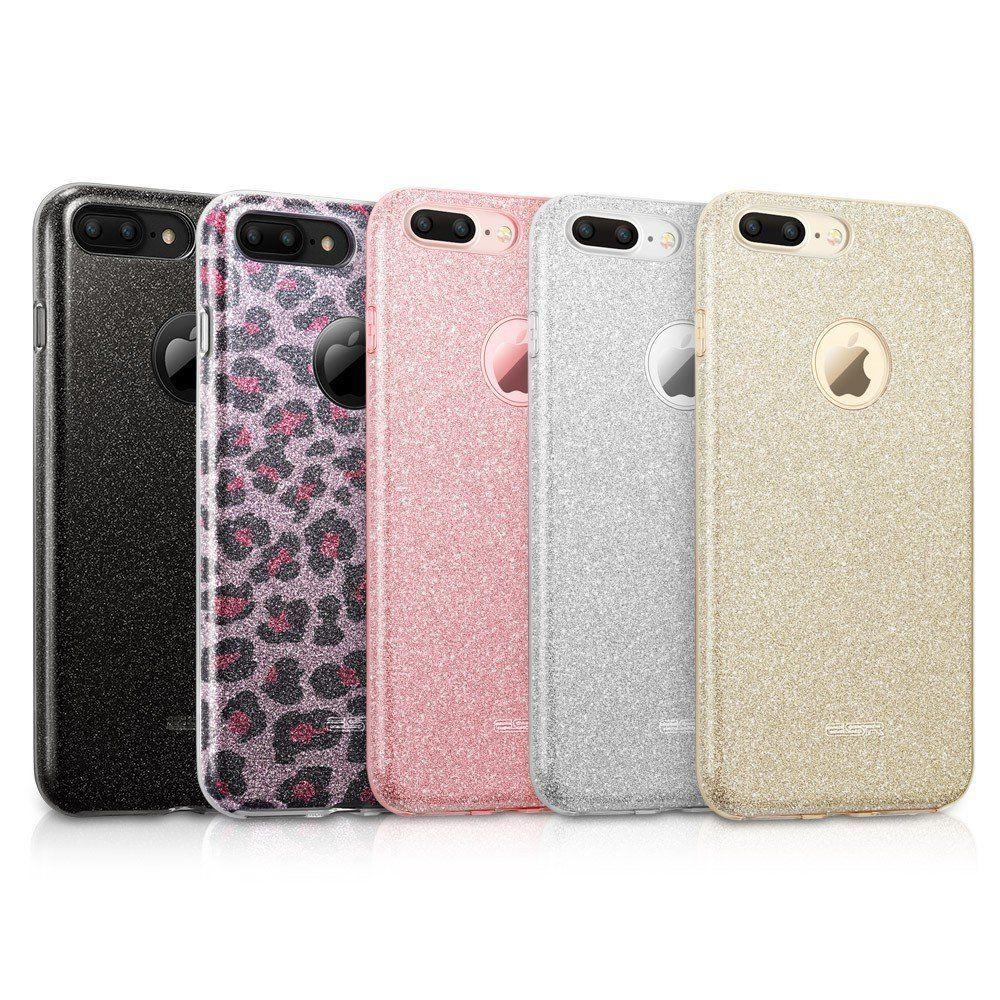 Custodia iPhone 7 Plus Cover iPhone 8 Plus Strass a Portafoglio