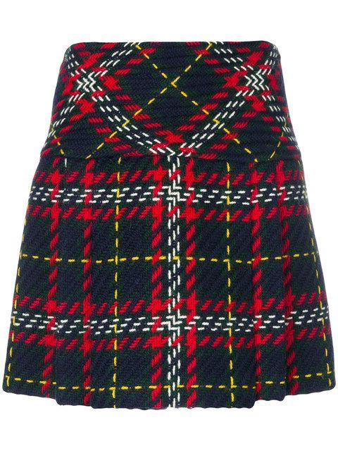 76fc506d31 Shop Miu Miu plaid tweed mini skirt. | shorts, skirts,rompers pants ...