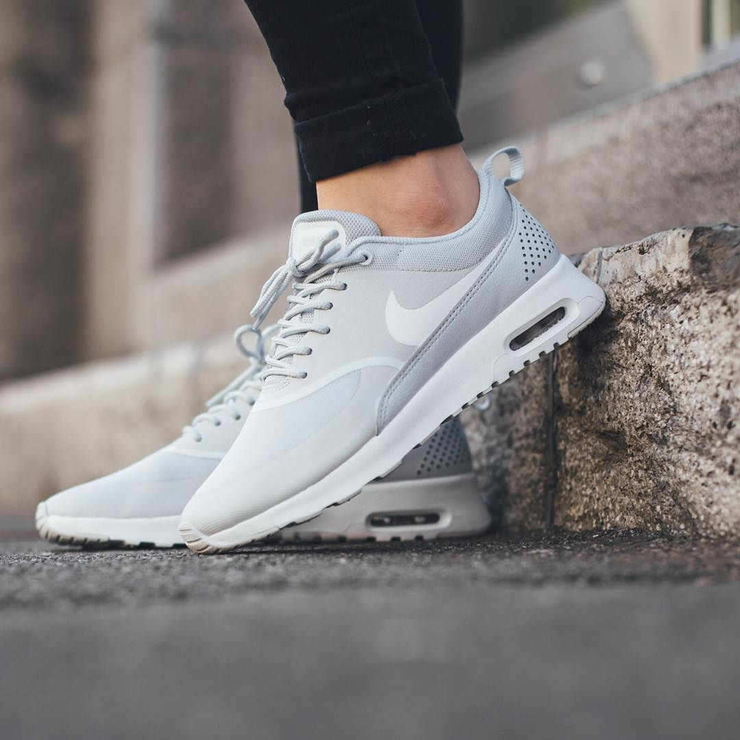 Nike Wmns Air Max Thea Pure Platinum White Available Now Titoloshop By Titoloshop Nike Free Shoes Gray Nike Shoes Nike Air Max