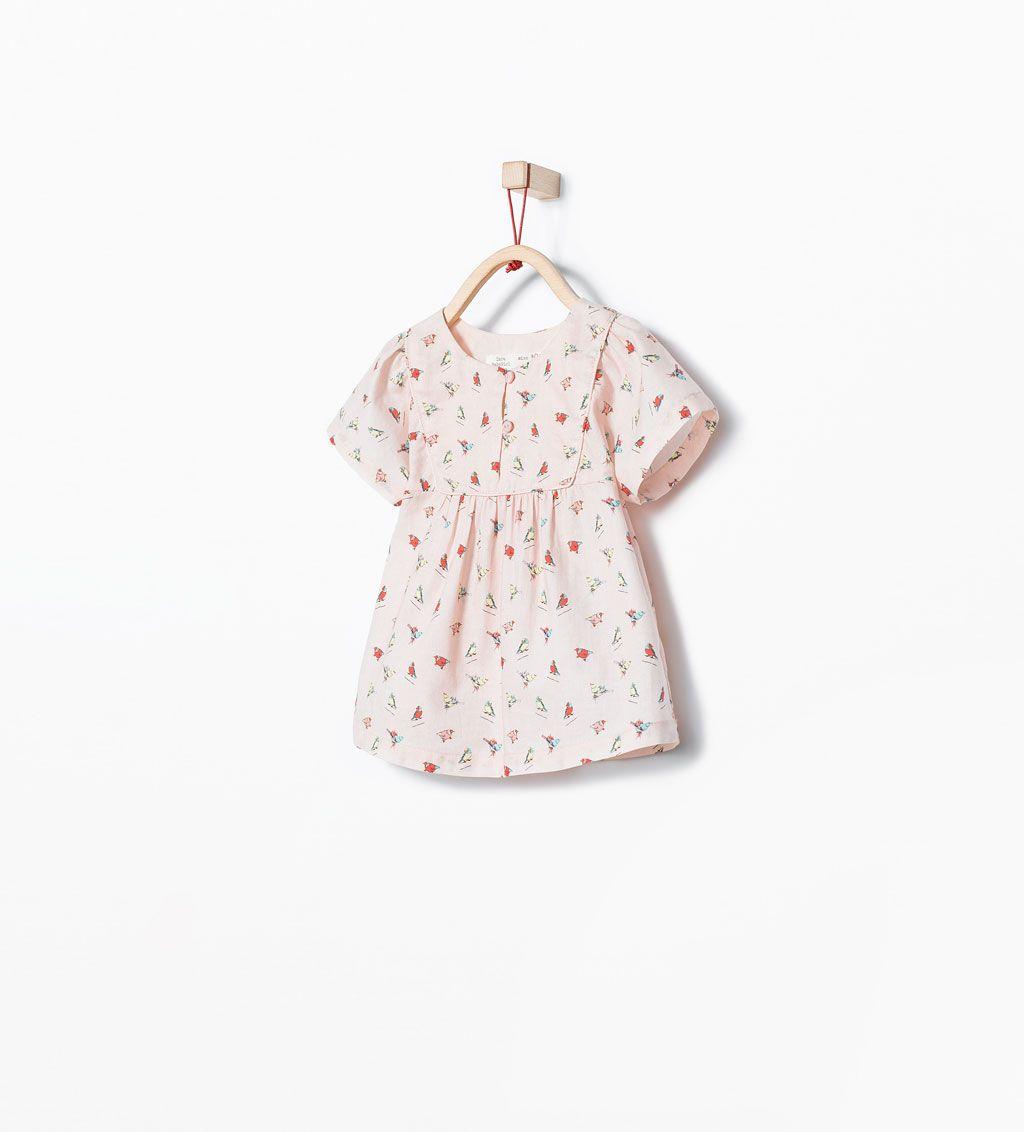 Zara rebajas camisa estampado p jaros sofi Zara bebe nina rebajas