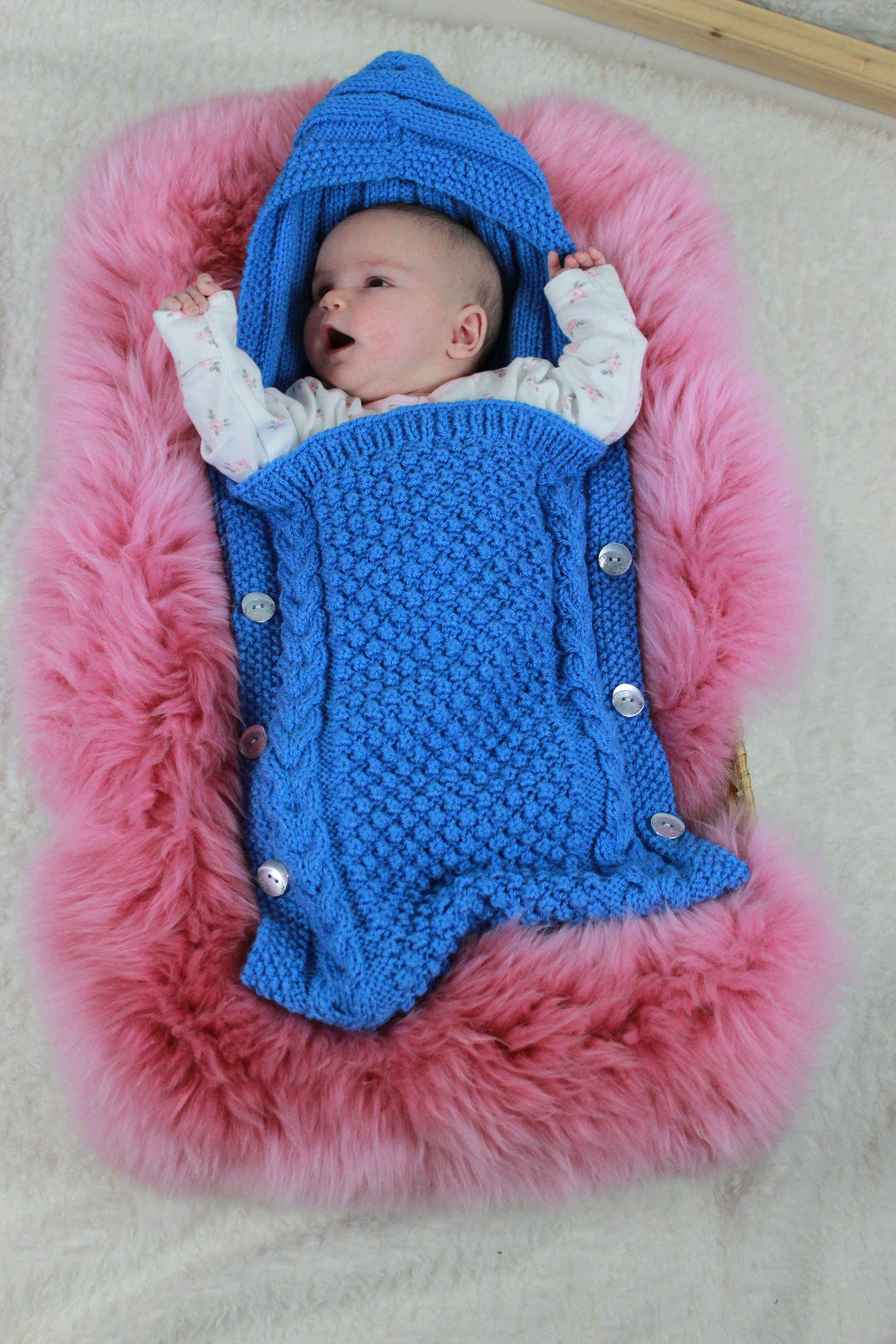Knitting Pattern - Baby - Sleeping Bag - Bunting - With ...