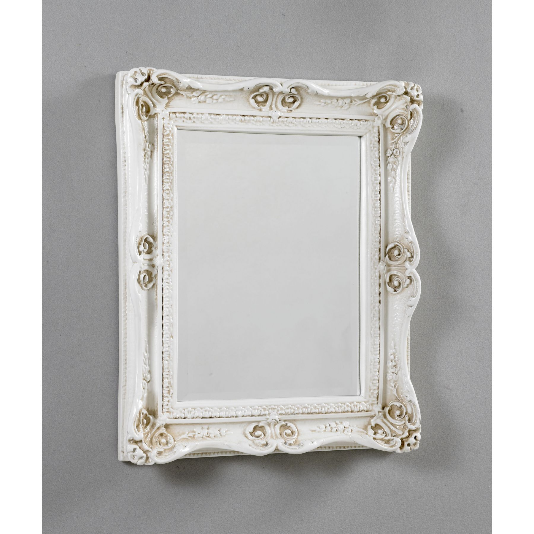 White Decorative Mirrors White Ivory Antique French - Antique bathroom mirrors sale