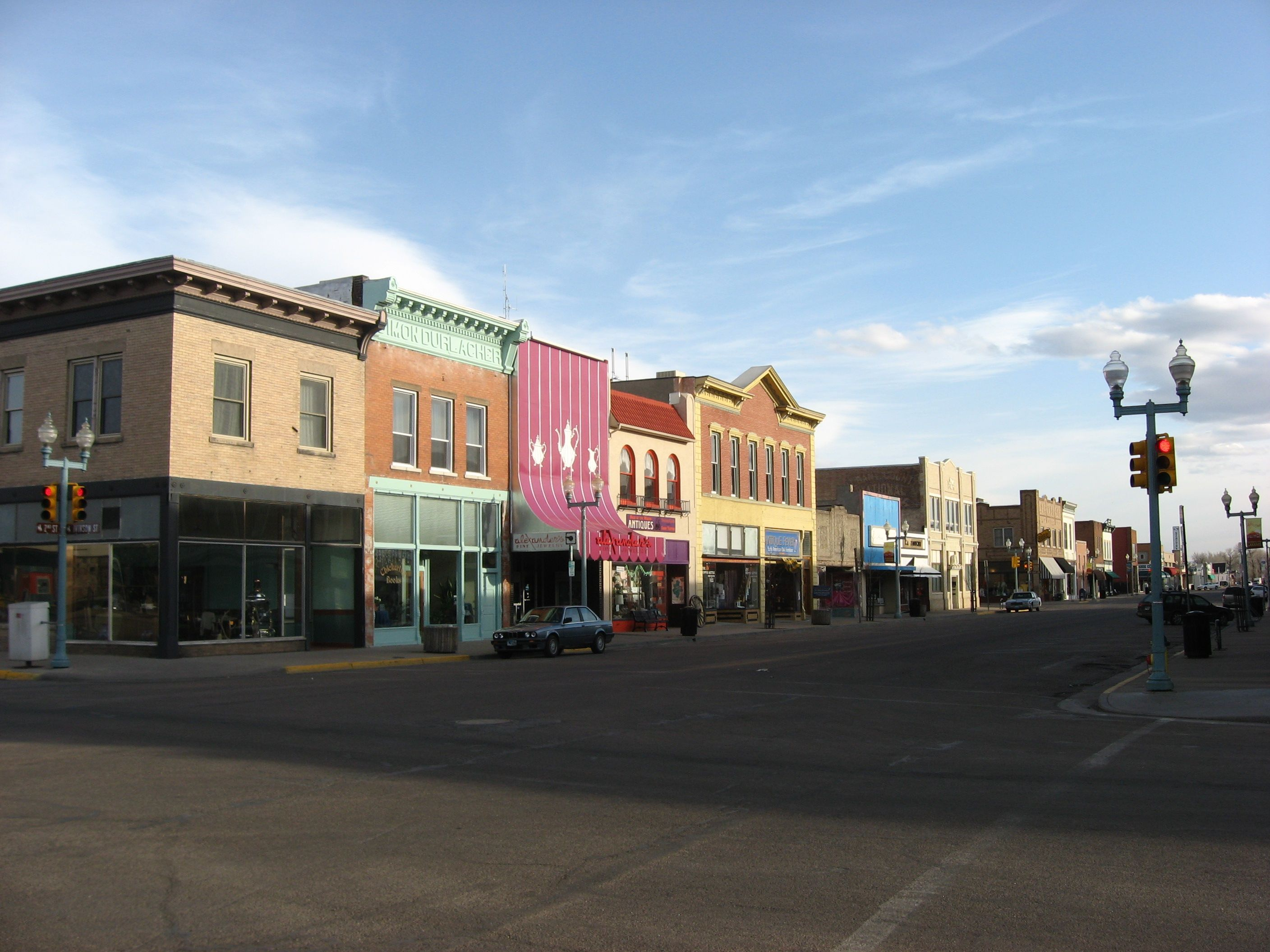 Downtown Laramie Wyoming Spent The Night Here Once When Driving Across U S