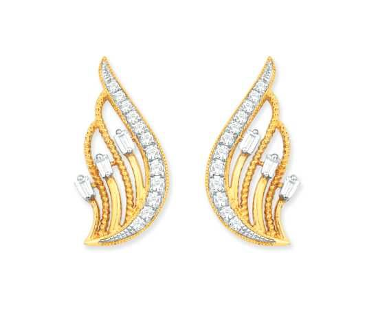 This Beautiful Diamond Earring From Anand Jewellers At 29 900 Only Kisna Jewellery Vvs 18k Gold